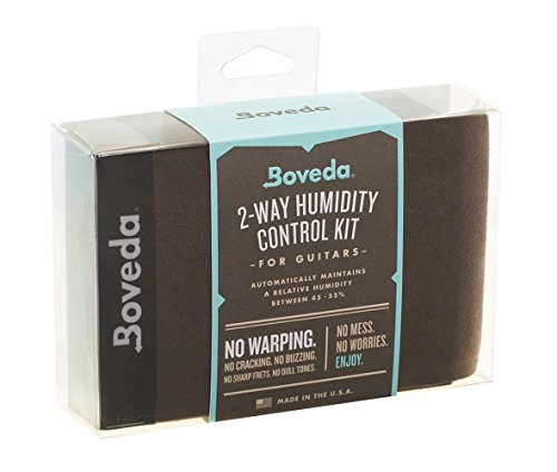 Boveda for Music | Large Starter Kit for Humidity Control for Fretted and Bowed Wood Instruments (Acoustic Guitars and More) | Includes (4) Large...
