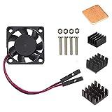 Easycargo, ventola per dissipazione del calore per Raspberry Pi, Kit per Raffreddamento per Raspberry Pi 3B+, 3B, Pi 2, Pi Modello B +