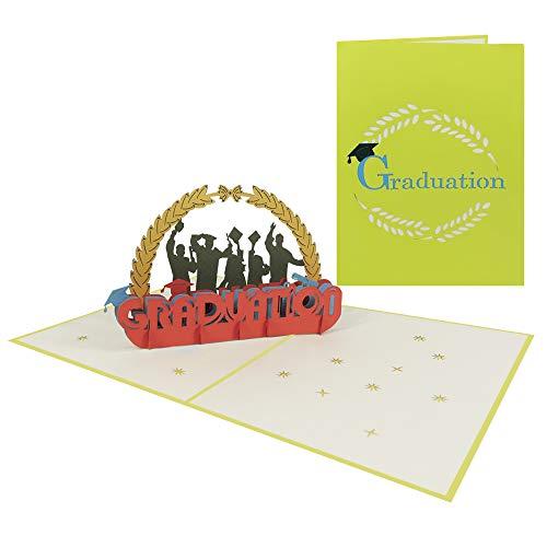 Pop Up Karte zur Gratulation Glückwunschkarte Abitur Hochschule Bachelor Doktor Graduation Abschlussfeier - Gratulation 090