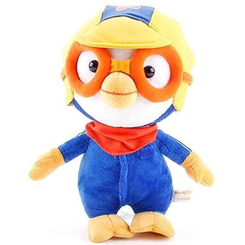 Jwmdew Juguete de Peluche Kawaii Corea del Sur Pororo Pequeño pingüino con Gafas Soft Fluffy Animal Toy Regalo 30 cm