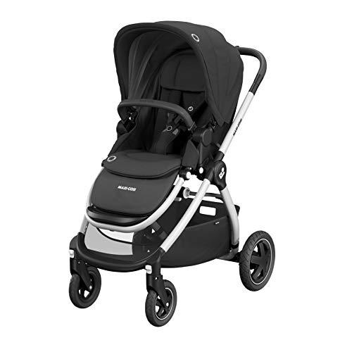 Maxi-Cosi Adorra Baby-Kinderwagen, bequemer und leichter Buggy mit großem Einkaufskorb, 0-15 kg, Essential Black