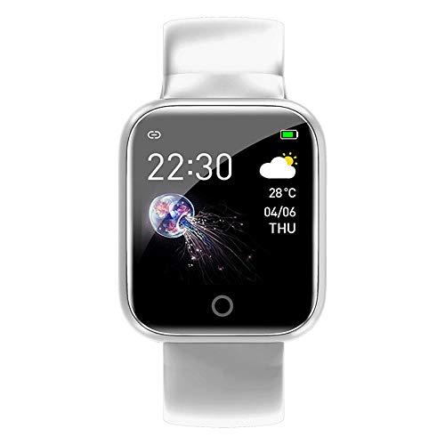 Reloj Inteligente Mujer Hombre,Pulsera Inteligente de Carga magnética, Control de música de oxígeno en Sangre de frecuencia cardíaca-Blanco,Pulsera de Actividad Inteligente Reloj Deportivo