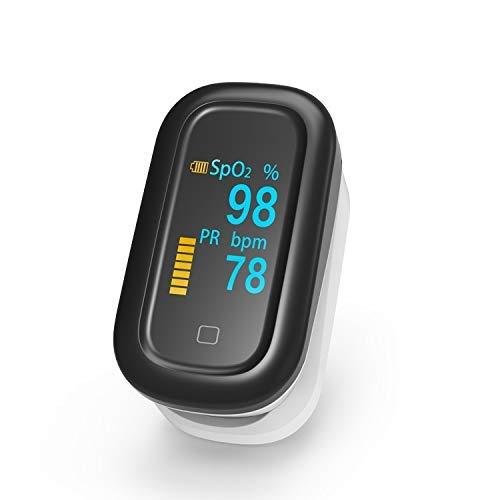 Ayanx Touchscreen-Fingerpulsoximeter Medizinisches Oximetro De Pulso-Pulsoxymeter Saturometro-Blutsauerstoff-Herzfrequenzmesser (Farbe: Kein Fall)