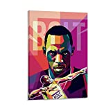 NENBN Usain Bolt Poster, dekoratives Gemälde, Leinwand,