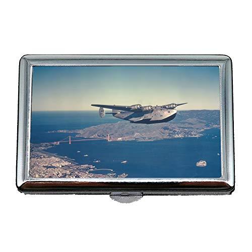 Vintage Flugzeuge, Zigarettenetui/Box, Scotch Fell Kämpfer Refill Blätter, Visitenkartenetui Visitenkartenetui Edelstahl