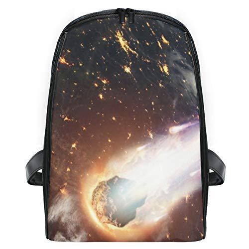 ELIENONO Kometen-Asteroiden-Meteorit glüht betritt die Erde,Laptop Rucksack für Männer Schulrucksack Multifunktionsrucksack Mini Tagesrucksack für Schule Wandern Reisen Camping