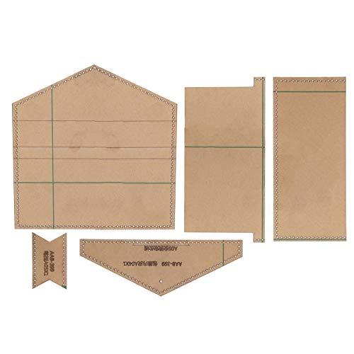 Plantilla de cartera de plantilla acrílica con patrón de monedero