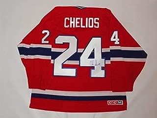 Chris Chelios Autographed Signed #24 Ccm Vintage Montreal Canadiens Jersey Proof JSA