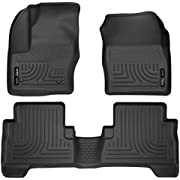 Husky Liners 99741 Black Weatherbeater Front & 2nd Seat Floor Liners Fits 2013-2019 Ford C-Max, 2013-2019 Ford Escape