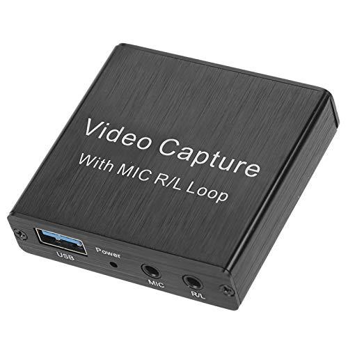 Asixxsix Tarjeta de Captura de Video USB 2.0, Captura de Video de grabación matemática de Alta definición por computadora, para señales de Video Señales de Audio