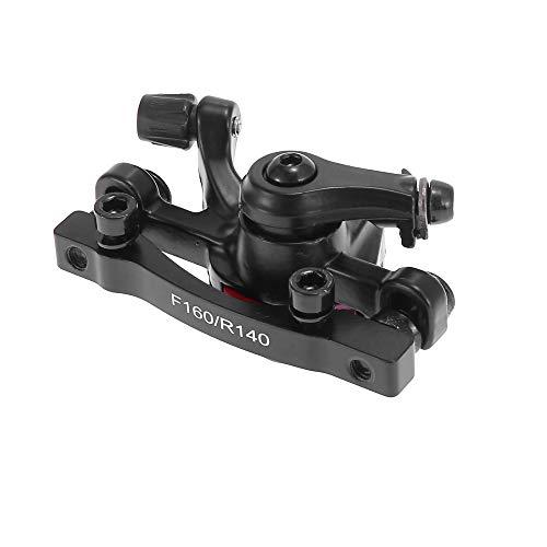 sourcing map Vélo VTT Noir étrier Frein Disque mécanique s'adapte pour 160mm rotors Avant
