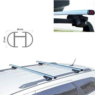 Generico Barre Portapacchi PORTATUTTO Auto Compatibile con Peugeot 307 SW 2007 120 CM Serratura ANTIFURTO UNIVERSALI MENABO Rails Alti MANCORRENTI RIALZATI dal Tetto