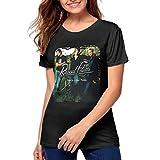 Nathalie R Salmeron Rascal Flatts Womens Short Sleeve Crewneck T-Shirt M Black