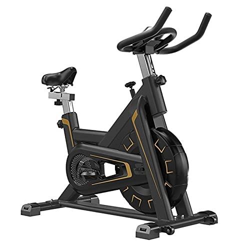 SKYWPOJU Bicicleta estática, Bicicleta estática para Interiores, Freno magnético, Monitor de frecuencia cardíaca, Pantalla LCD y portabotellas, Peso del Usuario de hasta 150 kg