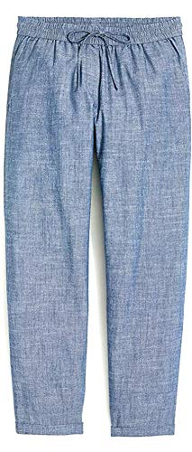 J. Crew Women's Relaxed-Fit Drawstring Pants (6, Chambray)