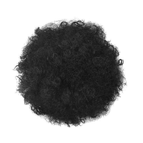 Ponytail postiche Afro Puff Noir Kinky Curly Chignon synthétiques Postiches pour Les Femmes