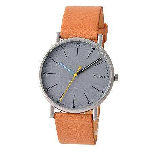 スカーゲン SKAGEN シグネチャー SIGNATUR クオーツ メンズ 腕時計 SKW6373 グレー/ライトブラウン [並行輸入品]