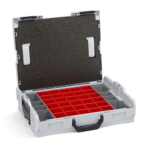 Sortierbox klein Schrauben   L-BOXX 102 (grau) mit Insetboxenset A3   Profi Werkzeugkoffer leer inkl. Sortimentskasten Einsätze