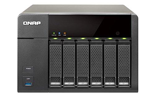 QNAP TS-651 NAS-System (Intel Celeron Dual-Core Prozessor, HDMI, SATA, 2,4GHz, 6-Bay, 1GB DDR3L RAM, 250 Watt, 2X USB 2.0, 3X USB 3.0)