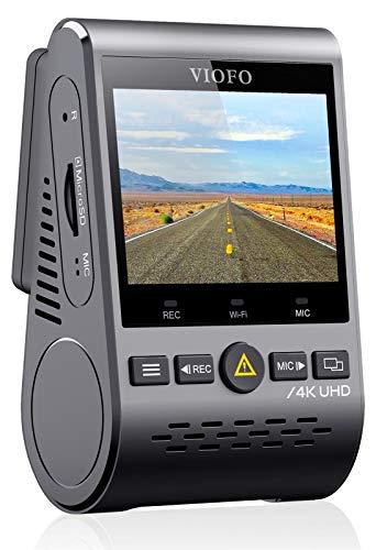 VIOFO 4K Autokamera Dashcam A129 Pro 3840 * 2160P Ultra HD 4K Dashkamera 8MP Sensor GPS Wi-Fi, Gepufferter Parkmodus, G-Sensor, Bewegungserkennung, WDR, Schleifenaufnahme