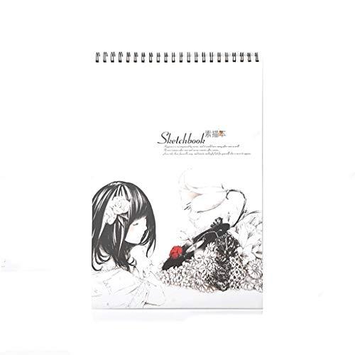 cuadernos de notas Bosquejo del libro de cuaderno grande cubierta en blanco con espiral Bloc de dibujo dibujo, bosquejo del libro, el cuaderno de escritura, la pintura (cubierta for el animal lindo) b