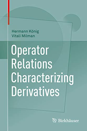 Operator Relations Characterizing Derivatives (English Edition)