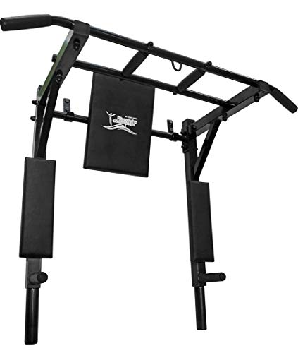 StM–Sport | Klimmzugstange 3 in 1 Profi | Schwarz| Pull Up Bar/Chin Up Bar | Multifunktional | Dip Station | Home Gym | Workout | Sportgerät | Fitness Geräte | Klimmzug Stangen
