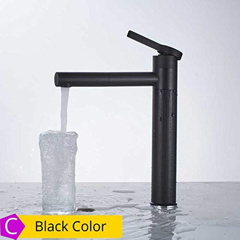 CZOOR Hohe weie Malerei Waschtischarmaturen Badezimmer Kran Torneira mit Belüfter 360 freie Rotation Einhebel-Heikaltwasserhahn, schwarz