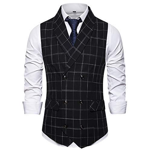 Story of life heren sjaalkraag pak vest klassiek geruit vest banket business gilet blazers prom-party tops