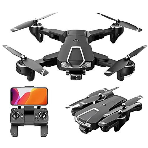 JJDSN Drone con Doppia Fotocamera 6k, Drone Pieghevole per Bambini e Adulti, Elicottero a Quattro Assi Adatto per Principianti, Mantenimento dell'altezza, seguimi, Ragazzo Ragazza e Regalo giocatt