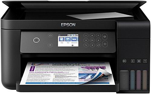 Epson EcoTank ET-3700 3-in-1 Tintenstrahl Multifunktionsgerät (Kopierer, Scanner, Drucker, DIN A4, Duplex, WiFi, Ethernet, Display, USB 2.0), großer Tintentank, hohe Reichweite, niedrige Seitenkosten