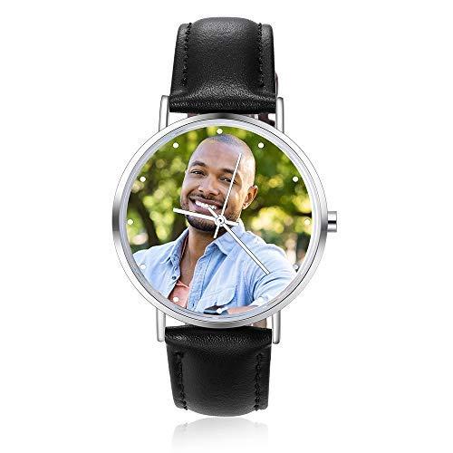 Reloj personalizado con foto grabado reloj con foto inserto para hombre y mujer muñeca cuadro reloj personalizado parejas..