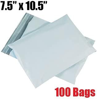 iMBAPrice 100 - 7.5x10.5 Premium Matte Finish Self-Sealing Non-Padded White Poly Mailers/Mailing Envelopes/Bags (iMBA-2PM-100)