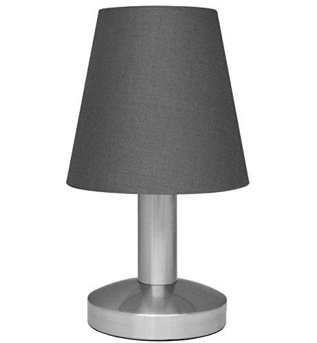 Touch Me Dimmer Nachttischlampe/Leselampe/Tischlampe, 3-stufige Touchfunktion, (graun)