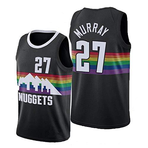 QKJD NBA Baloncesto Uniformes Camiseta de la NBA de la Temporada 19-20 Nuggets No. 15 Camiseta Nikola Jokic Camiseta Deportiva Deportiva Transpirable B-XXL