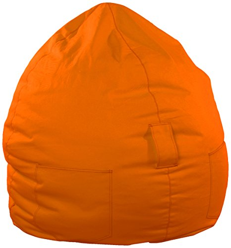 Kinzler S-10054/38 Sitzsack Kimi, ca. Ø75 x H95 cm, klassische Tropfenform, Outdoor Indoor, in vielen verschiedenen Farben, mit Innensack, orange