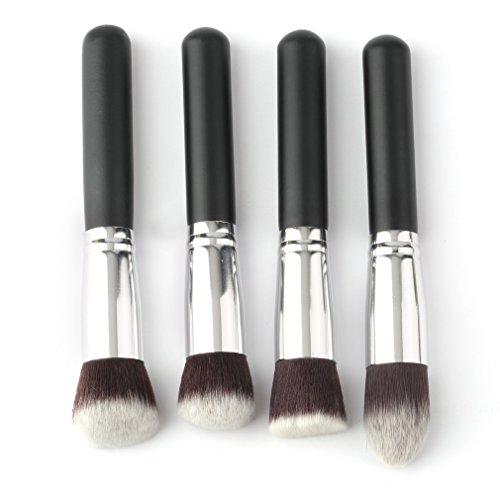 4 Pcs Professionnel Maquillage Brosses Ensemble Fard À Paupières Fondation Mascara Mélange Crayon Maquillage Brosses Cosmétique Outil