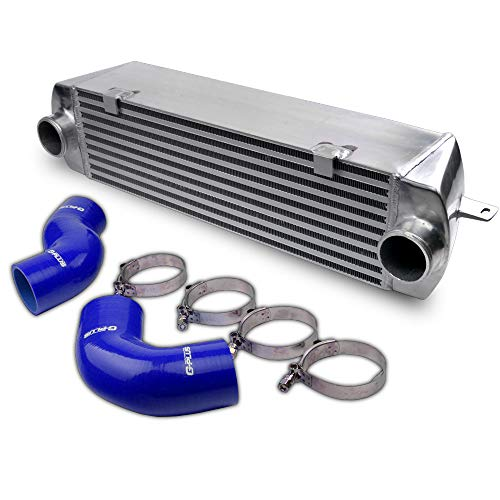 New Intercooler Replacement For BMW 135 135i 335 335i E90 E92 N54 2006-2010 Twin Turbo Aluminum High Performance Intercooler With Blue Intercopoler Pipe Hose Kit