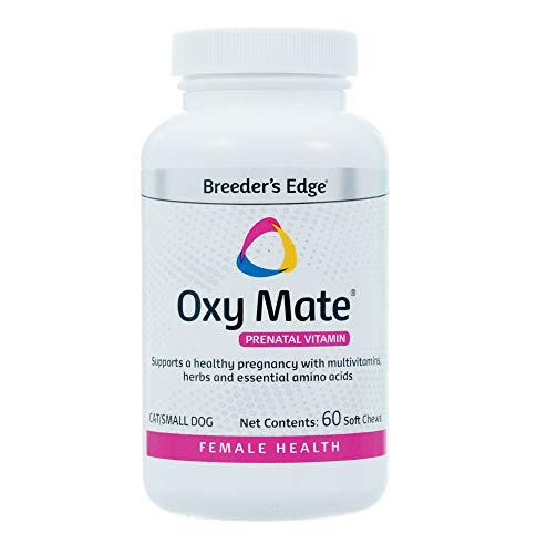 Revival Animal Health Breeder's Edge Oxy Mate- Prenatal Supplement- for Small Dogs & Cats- 60ct Soft Chews
