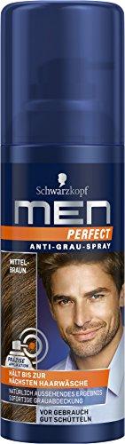 Men Perfect Anti-Grau-Spray Mittelbraun, 120 ml