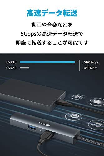 AnkerPowerExpand+5-in-1プレミアムUSB-Cハブ【4K対応HDMI出力ポート/3つのUSB-A3.0ポート/1Gbpsイーサネットポート】MacBookPro2018/2019、iPadPro他対応