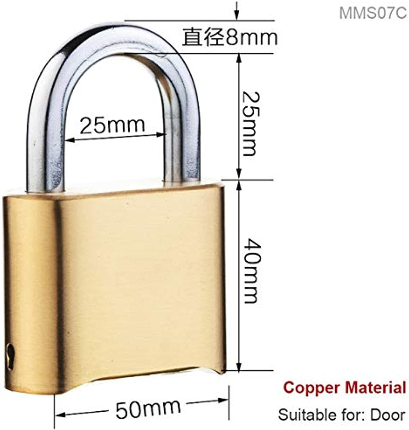 Combination 4 Number Code Security Anti Rust Padlock Set for Gym Sports Fence School Employee Locker Outdoor Fence Padlock  (color  MMS07C)