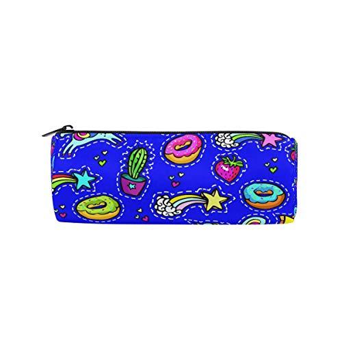 Trousse à crayons, licorne, beignet, étoile, cactus, fraise, trousse à crayons pour l'école, bureau, trousse de maquillage pour femme