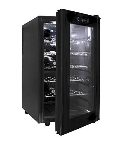Lacor - 69171 - Armario refrigerador 18 Botellas Black Line 70w 48Litros
