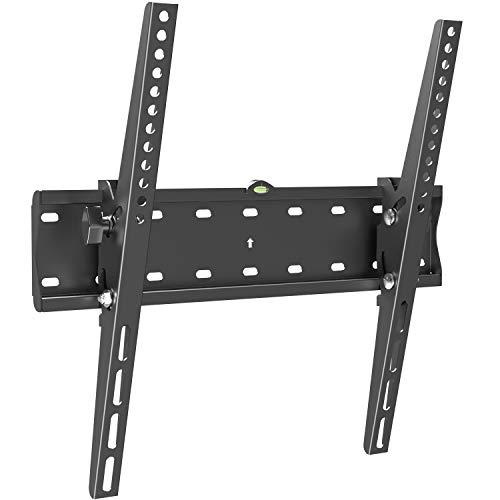 PUTORSEN® TV Wandhalterung Flach Neigbar für 32-55 Zoll Flach&Curved Fernseher bis zu 40kg, Max.VESA 400x400mm