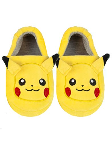 Pokemon Pikachu Embroidered Face 3D Ears Kid's Character Slippers 32 EU