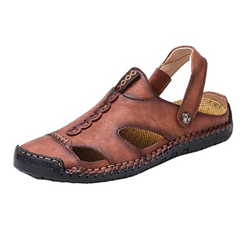 Buy Bargain Seaintheson Men's Outdoor Beach Sandals,Casual Breathable Non-Slip Shoes Flat Soft Round...