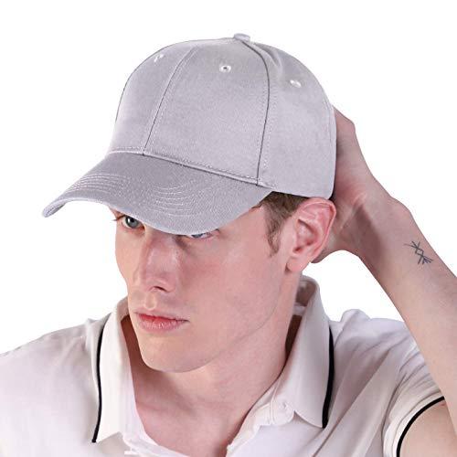 Bwiv Baseball Cap Herren Verstellbar Basecap Luftlöchern Sonnenschutz Damen Baseballkappe Cap Unisex Mütze Baumwolle Cappy für Sport Reisen Draußen Grau