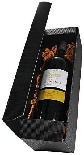 Wein Geschenkset mit Magnumflasche Château de Bonhoste 2014 A.O.C. Bordeaux Supérieur Rouge (1 x 1,5l)