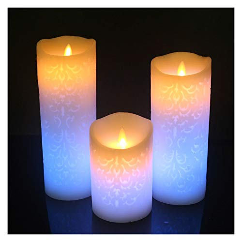 Candle Lights Color Change Gradient LED Candles 18 Remote Control Electronic Flameless Breathing Candle Night Lights Wedding Party Decor